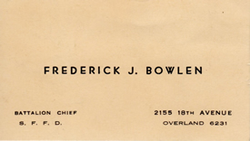 San francisco fire department museum notable people frederick j frederick bowlens business card colourmoves